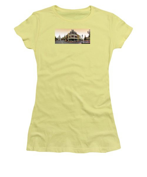 Before The Gates Open Magic Kingdom Main Street. Women's T-Shirt (Athletic Fit)