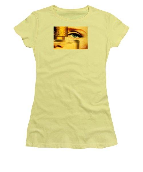 Behind The Bottle Women's T-Shirt (Junior Cut) by Michael Cinnamond