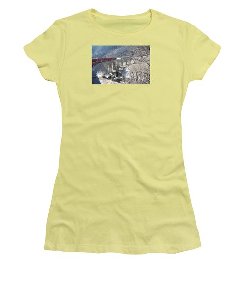 Bernina Express In Winter Women's T-Shirt (Athletic Fit)