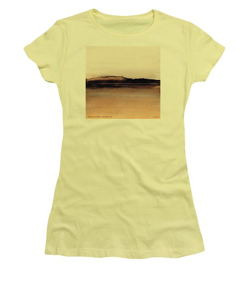 Between The Woods And Frozen Lake   Number Five Women's T-Shirt (Athletic Fit)