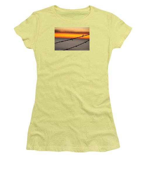 Beyond The Wire Women's T-Shirt (Junior Cut) by Amy Gallagher