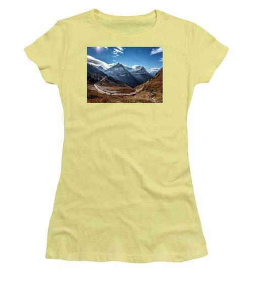 Women's T-Shirt (Junior Cut) featuring the photograph Big Bend by Aaron Aldrich