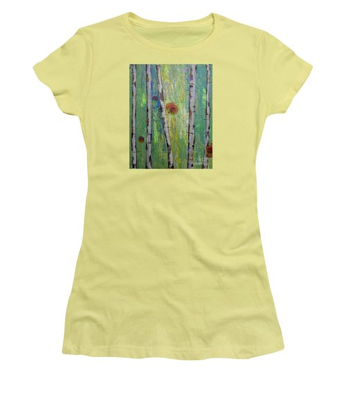 Birch - Lt. Green 5 Women's T-Shirt (Athletic Fit)