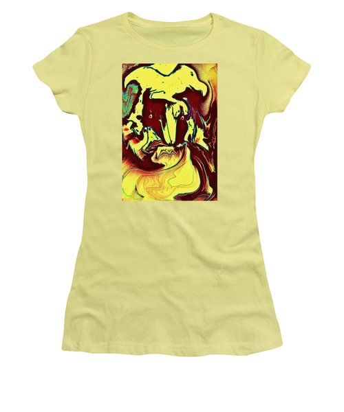 Bird On Head Women's T-Shirt (Athletic Fit)