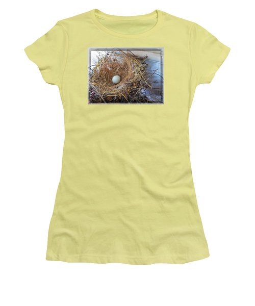 Women's T-Shirt (Junior Cut) featuring the photograph Birds Nest - Perfect Home by Ella Kaye Dickey