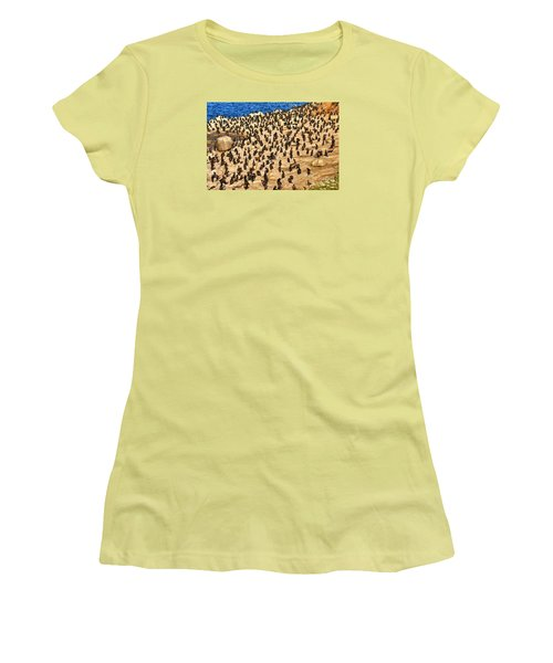 Women's T-Shirt (Junior Cut) featuring the photograph Birds Of A Feather Stick Together by Jim Carrell