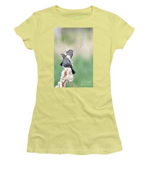 Blackbird Pair Women's T-Shirt (Junior Cut) by Mike  Dawson