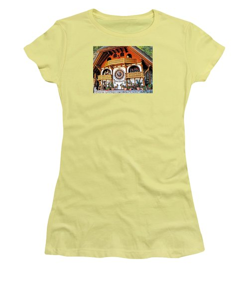 Blackforest Cuckoo Clock Women's T-Shirt (Athletic Fit)