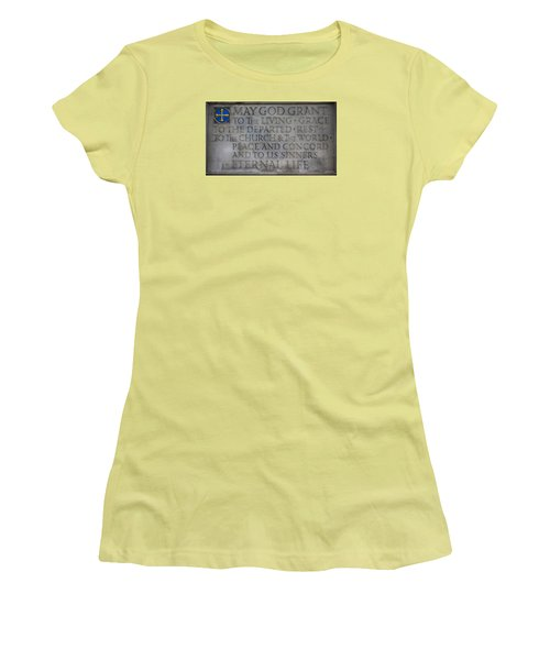 Blessing Women's T-Shirt (Junior Cut) by Stephen Stookey