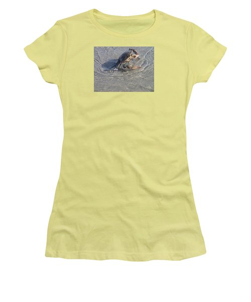 Blue Crab Chillin Women's T-Shirt (Junior Cut) by Robert Nickologianis