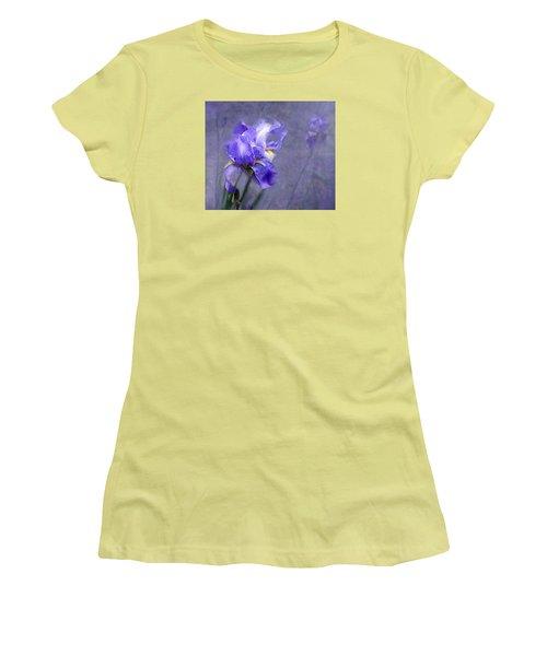Blue Iris Women's T-Shirt (Junior Cut) by Lena Auxier
