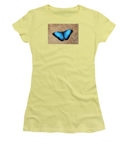 Blue Morpho #2 Women's T-Shirt (Athletic Fit)