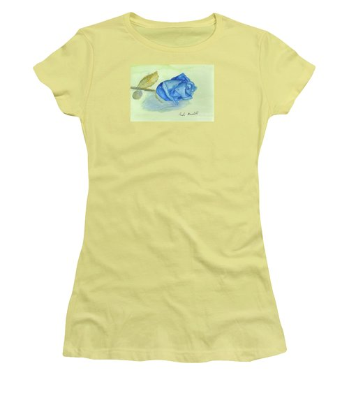Blue Rose Women's T-Shirt (Athletic Fit)