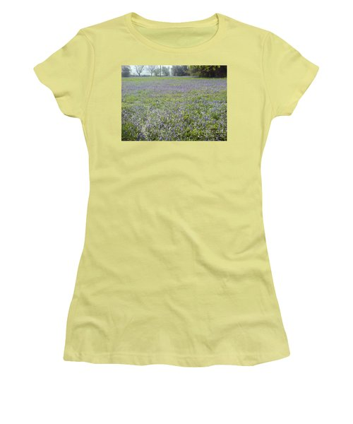 Bluebell Fields Women's T-Shirt (Junior Cut) by John Williams