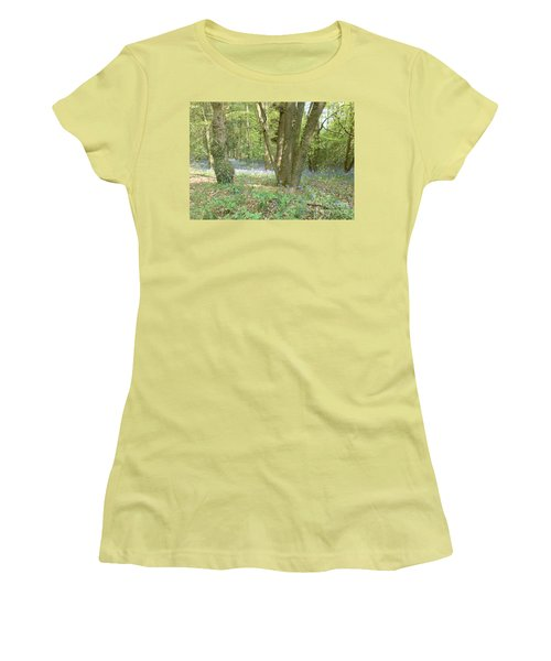 Bluebell Wood Women's T-Shirt (Junior Cut) by John Williams
