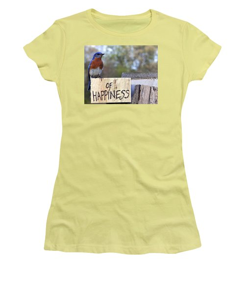 Women's T-Shirt (Junior Cut) featuring the photograph Bluebird Of Happiness by John Crothers