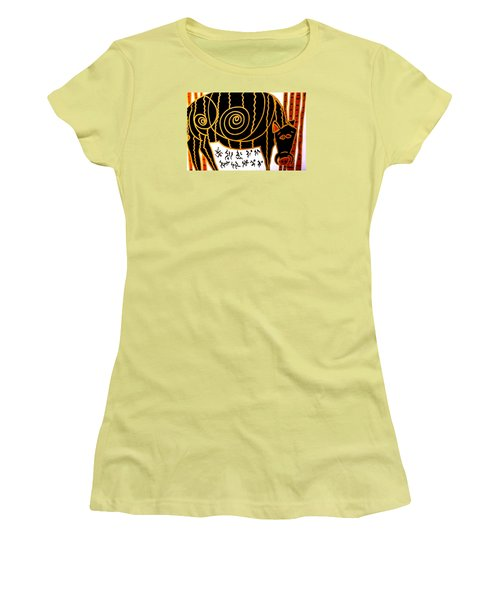 Women's T-Shirt (Junior Cut) featuring the painting Boar Totem by Clarity Artists