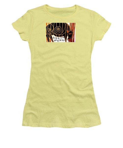 Boar Totem Women's T-Shirt (Junior Cut) by Clarity Artists