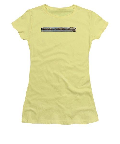 Women's T-Shirt (Junior Cut) featuring the photograph Boardwalk Panorama Walt Disney World by Thomas Woolworth