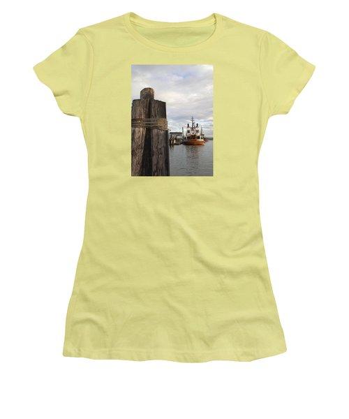 View From The Pilings Women's T-Shirt (Junior Cut) by Suzy Piatt