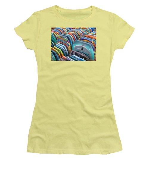Boogie Boards Women's T-Shirt (Junior Cut) by Barbara McDevitt