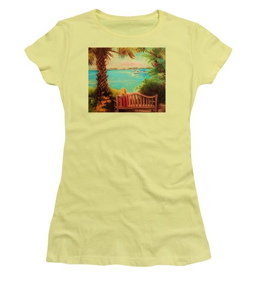 Women's T-Shirt (Junior Cut) featuring the painting Botanical View by Yolanda Rodriguez