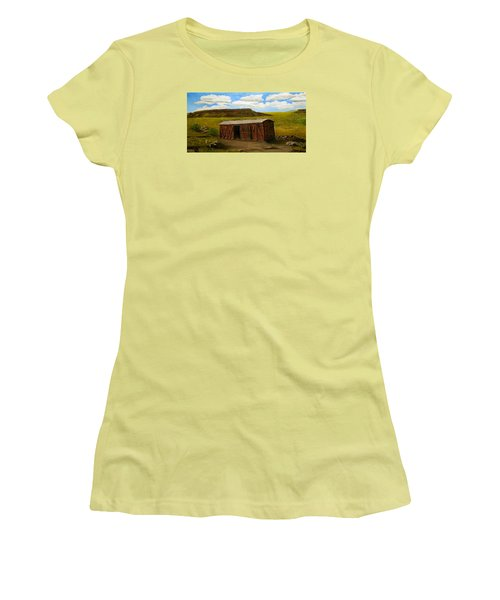Boxcar On The Plains Women's T-Shirt (Junior Cut) by Sheri Keith