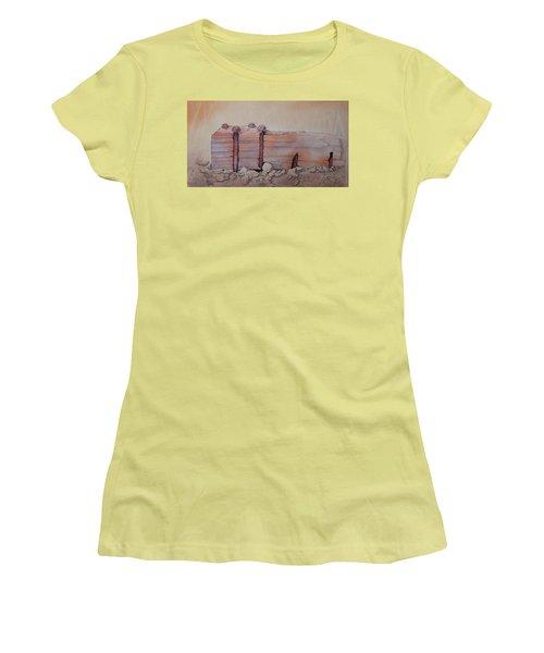 Broken Dock Seward Alaska Women's T-Shirt (Junior Cut) by Richard Faulkner