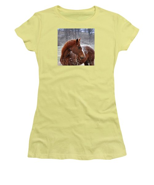 Snowing  Women's T-Shirt (Junior Cut) by Nava Thompson