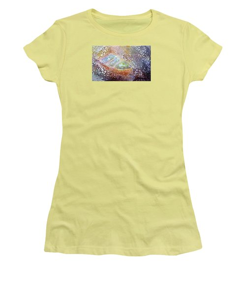 Women's T-Shirt (Junior Cut) featuring the painting Bubble Boat by Kathleen Pio