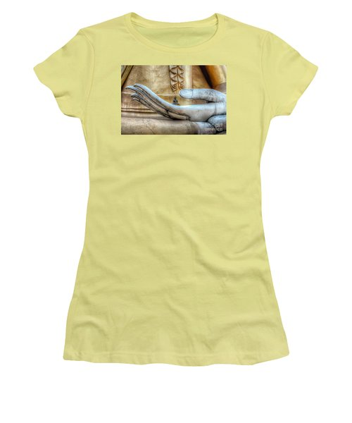 Buddha's Hand Women's T-Shirt (Junior Cut) by Adrian Evans