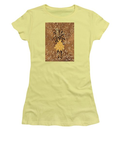 Bugle Player Women's T-Shirt (Junior Cut) by Katherine Young-Beck