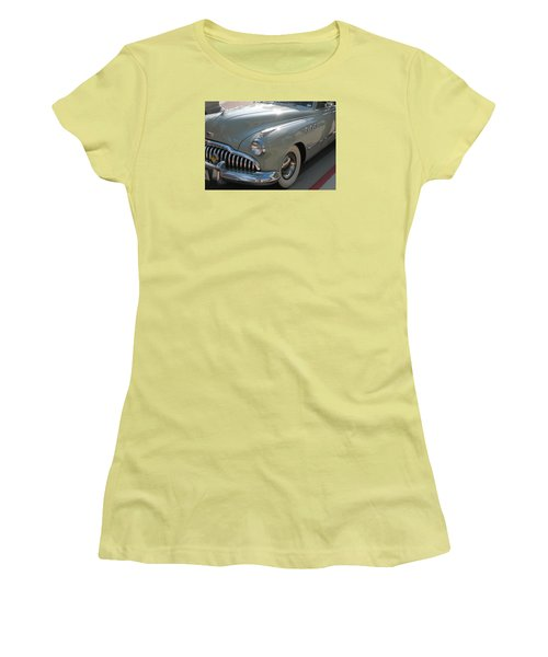 Buick Roadmaster Women's T-Shirt (Junior Cut) by Connie Fox
