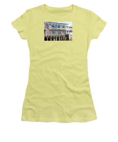 Building On Piles Above Water Women's T-Shirt (Junior Cut) by Lorna Maza