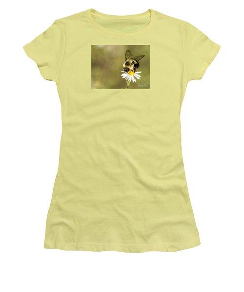 Bumble Bee Macro Women's T-Shirt (Junior Cut) by Debbie Green