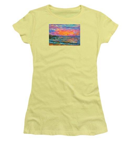 Burning Shore Women's T-Shirt (Junior Cut) by Kendall Kessler