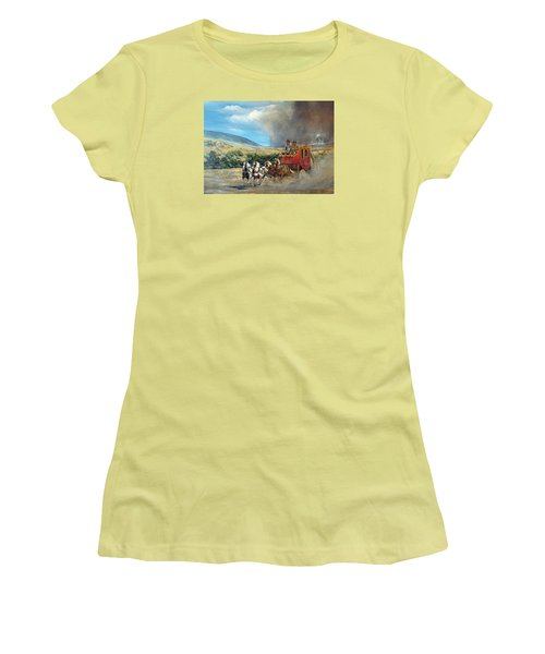 Women's T-Shirt (Junior Cut) featuring the painting Business As Usual by Donna Tucker
