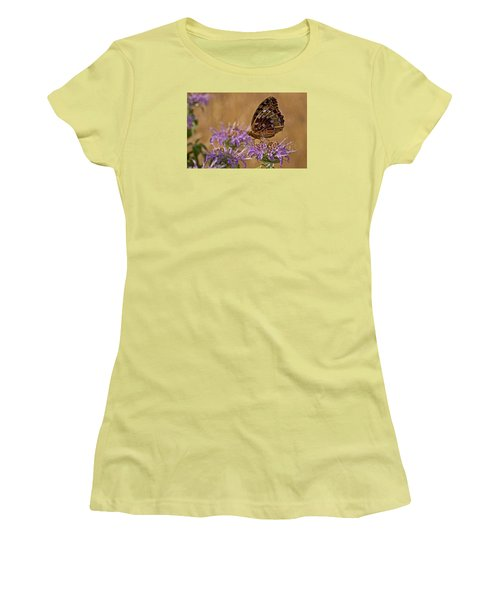 Butterfly On Bee Balm Women's T-Shirt (Athletic Fit)