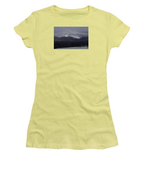 Women's T-Shirt (Junior Cut) featuring the photograph Cabin Mountain by Randy Bodkins