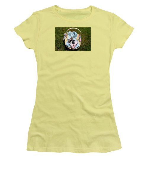Calicos Pups At Two Days Women's T-Shirt (Junior Cut) by Kathryn Meyer
