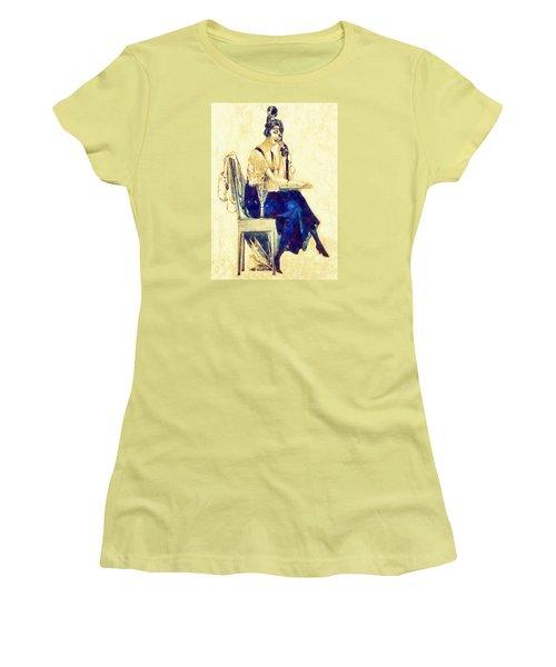 Women's T-Shirt (Junior Cut) featuring the digital art Call Me by Charmaine Zoe