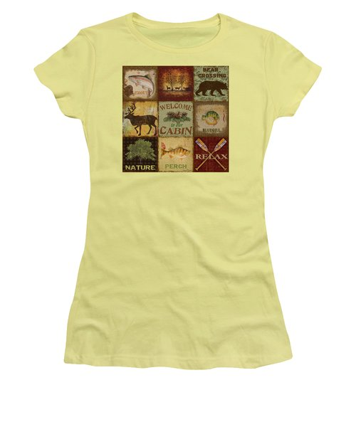 Call Of The Wilderness Women's T-Shirt (Junior Cut) by Jean Plout