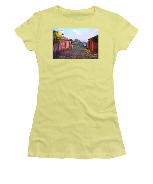 Women's T-Shirt (Junior Cut) featuring the photograph Calle De Los Suspiros by Bernardo Galmarini