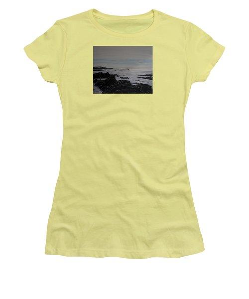 Cambria Tidal Pools Women's T-Shirt (Junior Cut) by Ian Donley