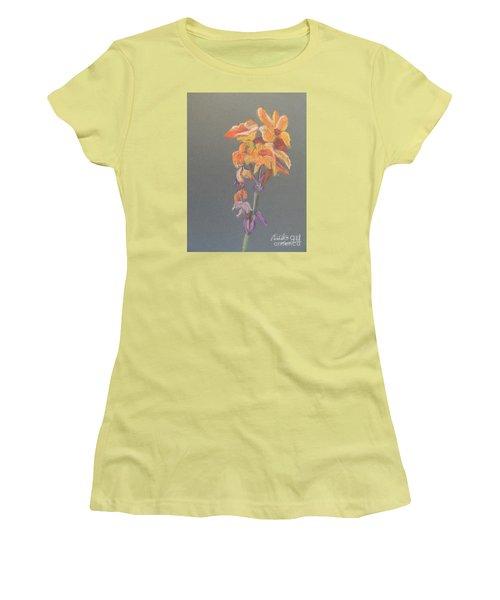 Canna Women's T-Shirt (Junior Cut) by Pamela  Meredith