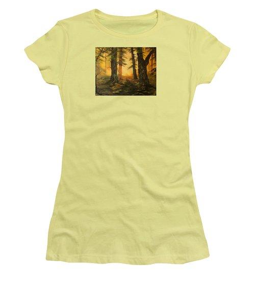 Cannock Chase Forest In Sunlight Women's T-Shirt (Junior Cut) by Jean Walker