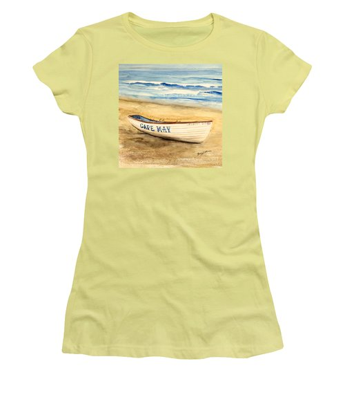 Cape May Lifeguard Boat - 2 Women's T-Shirt (Athletic Fit)