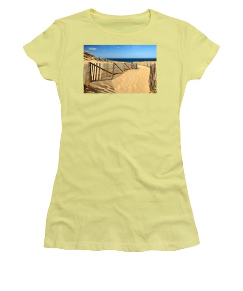 Cape Cod Beach Women's T-Shirt (Junior Cut) by Mitchell R Grosky