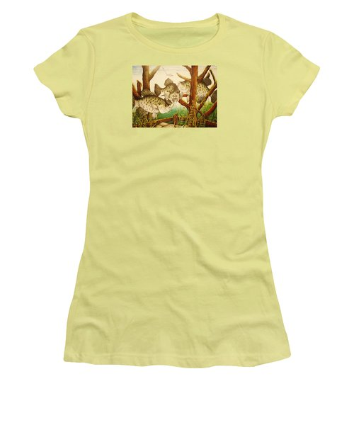 Captivating Crappies Women's T-Shirt (Athletic Fit)