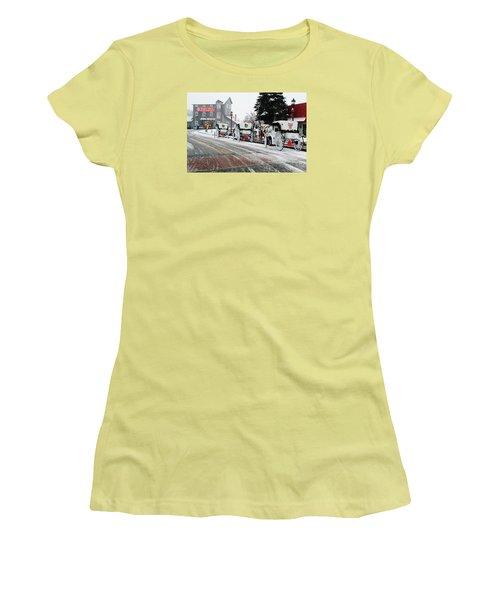 Carriage Ride Women's T-Shirt (Junior Cut) by Janice Adomeit